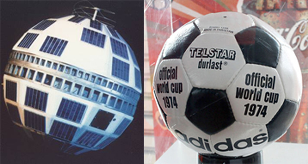The Telstar satellite and the football design it inspired