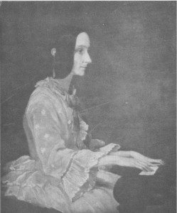 Ada Lovelace playing piano in 1852