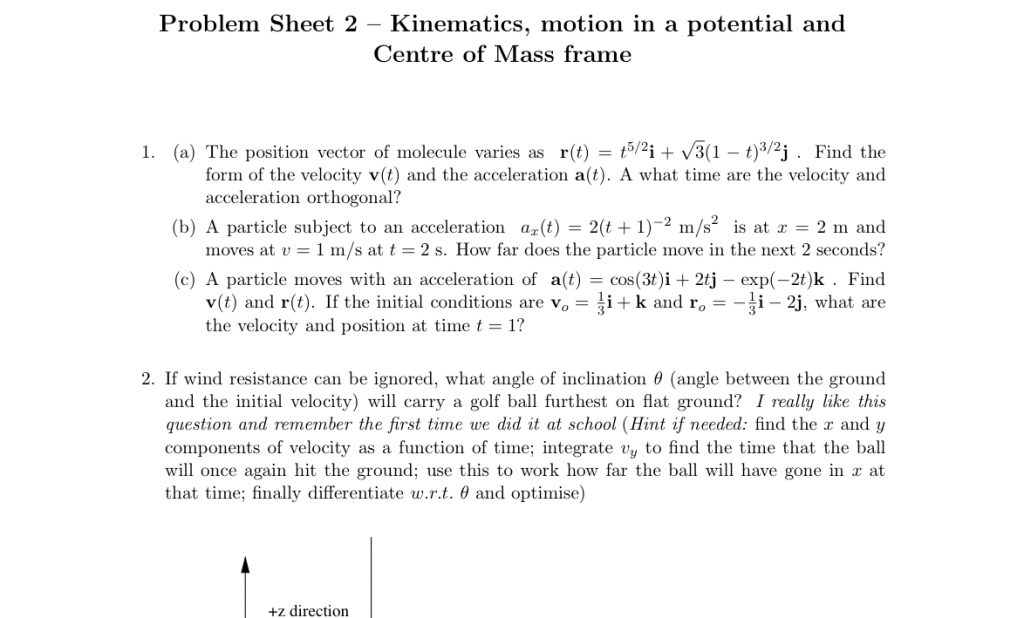 Problem Sheet Two