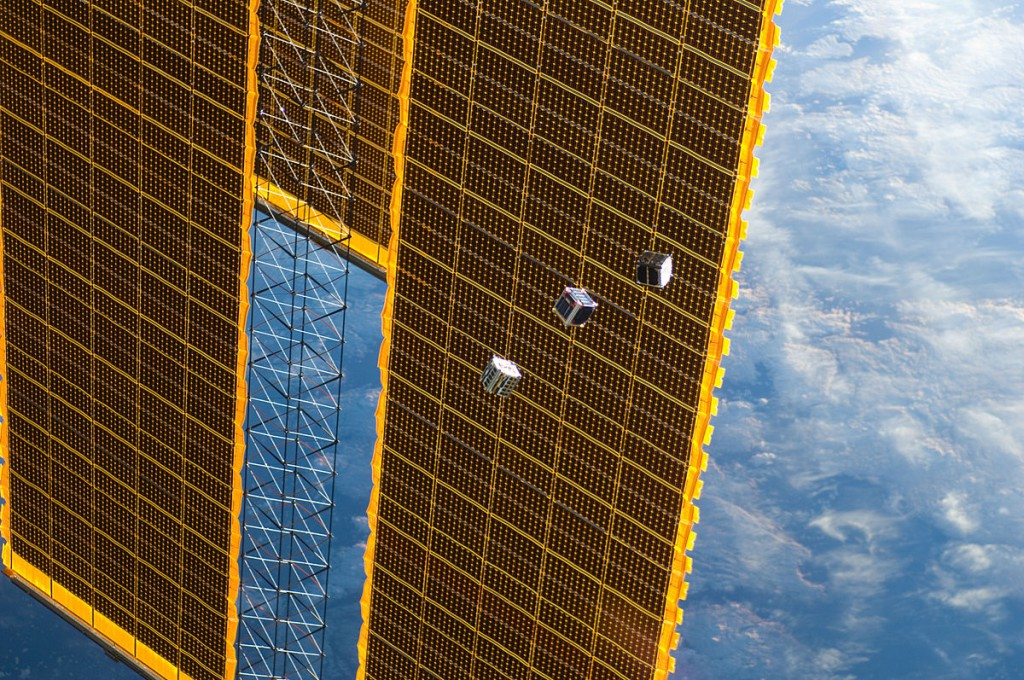 """CubeSats launched by ISS Expedition 33"" by NASA - http://spaceflight.nasa.gov/gallery/images/station/crew-33/html/iss033e009286.html. Licensed under Public Domain via Wikimedia Commons - http://commons.wikimedia.org/wiki/File:CubeSats_launched_by_ISS_Expedition_33.jpg#/media/File:CubeSats_launched_by_ISS_Expedition_33.jpg"