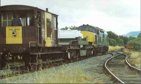 A British Rail nuclear waste carriage.